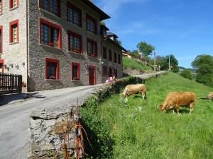 The locals greet us as we arrive in Las Herrerias.