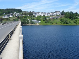 Crossing the bridge into Portamarin.